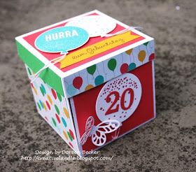 Explosionsbox Zum 20 Geburtstag Geburtstag Geschenke Selber Machen Geburtstag Einmachglas Geschenke