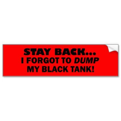Rv camping stay back rv travel humor bumper sticker