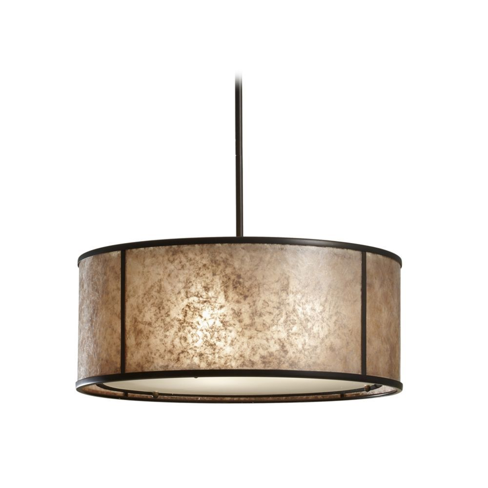 drum lighting pendant. Drum Pendant Light With Beige / Cream Mica Shade In Antique Bronze At Destination Lighting D
