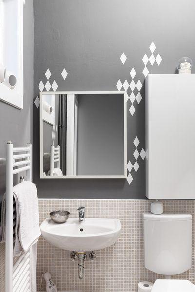 rauten rock 'n' roll 30er set in weiß | graue wände, shops und design, Badezimmer ideen