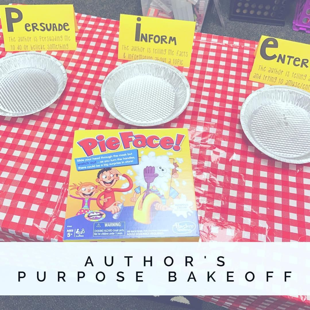 We Had An Authors Purpose Bakeoff Today Groups Were Given