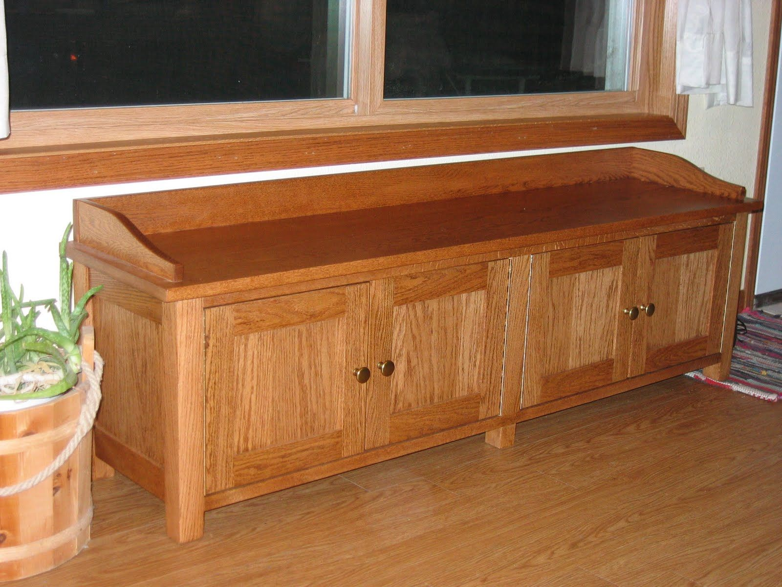 Genial Custom Made Oak Window Bench. Posted By The Beginning Farmeru0027s Wife