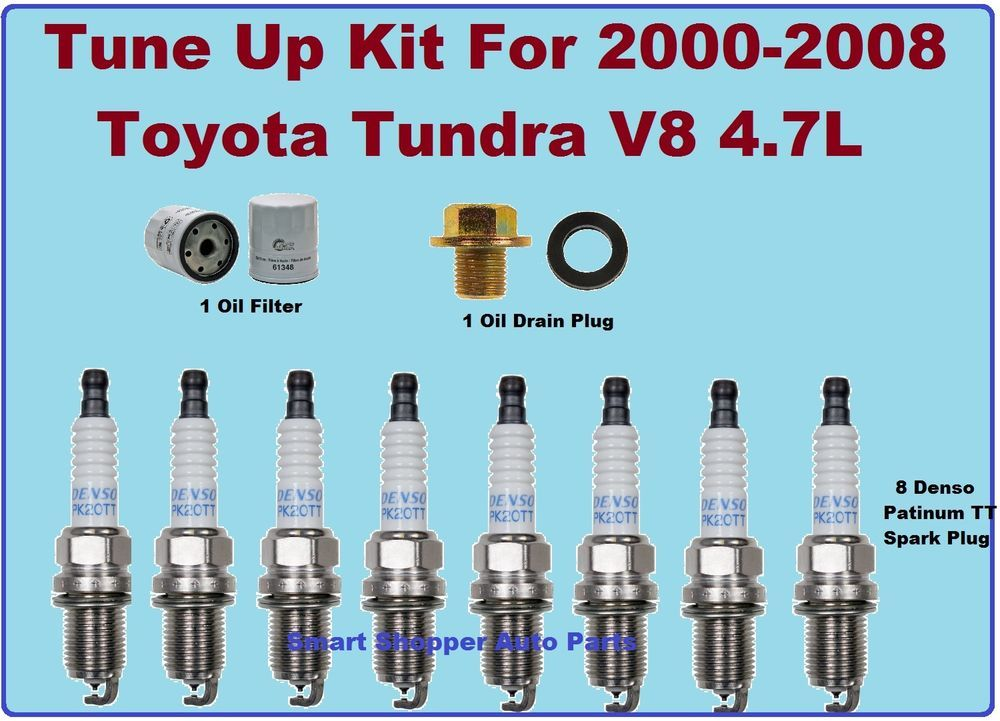 Tune Up Kit 20002008 Toyota Tundra V8 4.7L Oil Filter Oil