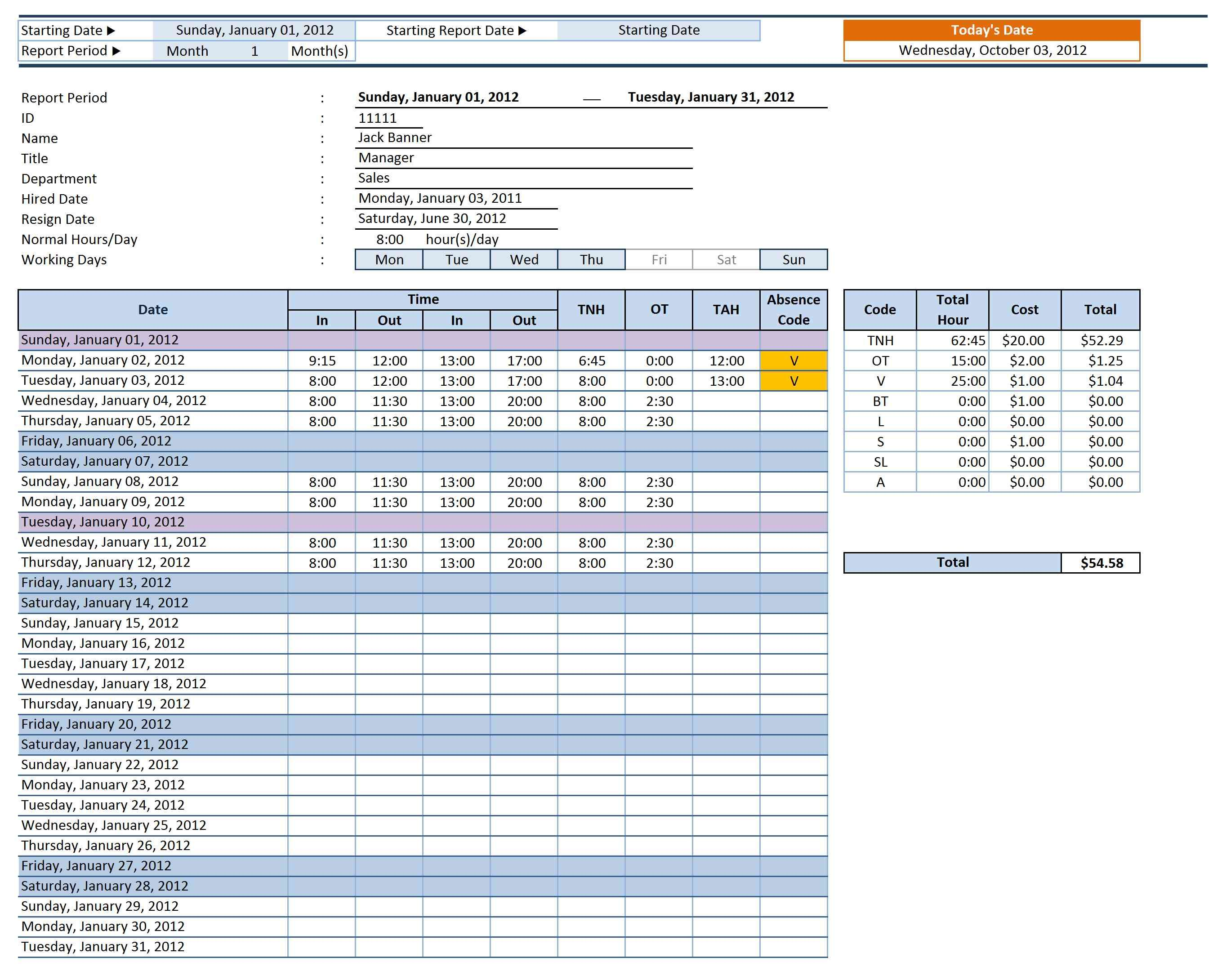 Employee Time Sheet Manager  Microsoft Templates Timesheet