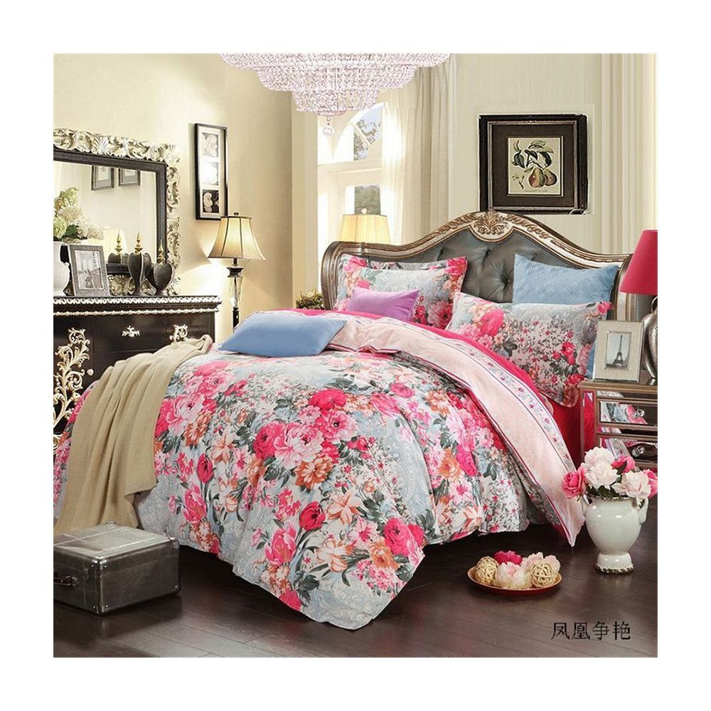 Bed Quilt Duvet Sheet Cover 4PC Set