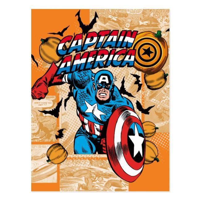 Classic Captain America Halloween Comic Panel Postcard #Ad , #SPONSORED, #Halloween#Comic#Panel#America