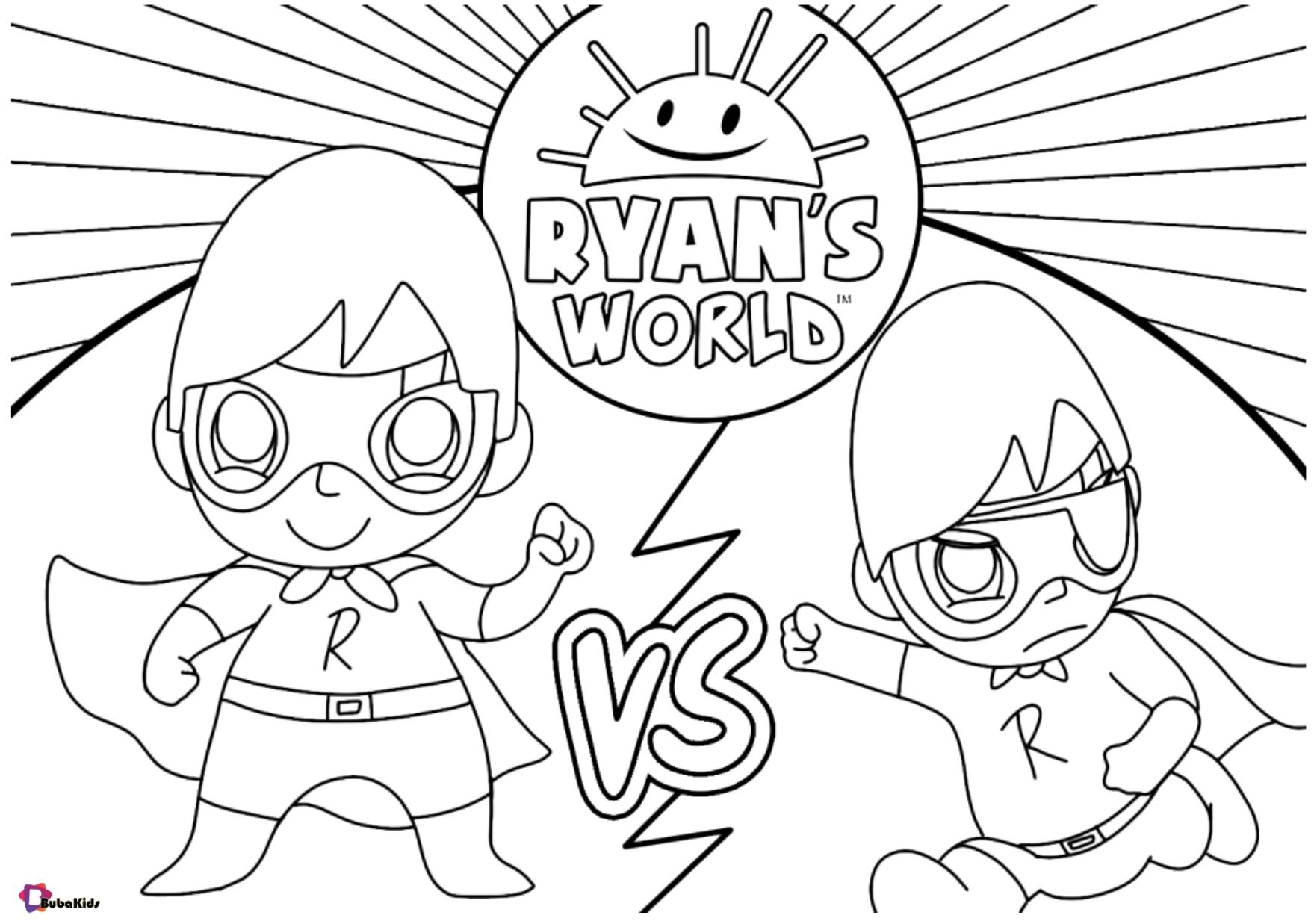Free Download Ryan S World Coloring Page For Kids Collection Of Cartoon Coloring Page Cartoon Coloring Pages Printable Coloring Pages Superhero Coloring Pages