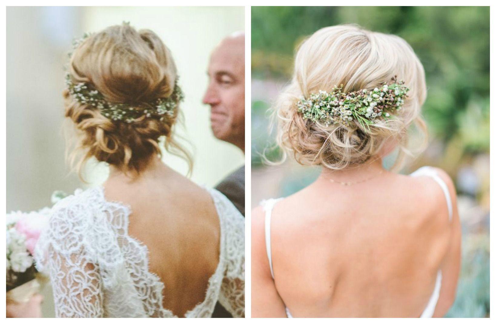 peinados para novia recogido con flores - Buscar con Google