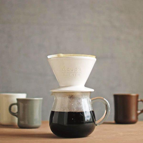 Kaffee Dripper Filter für 2 Tassen Porzellan Kaffeefilter