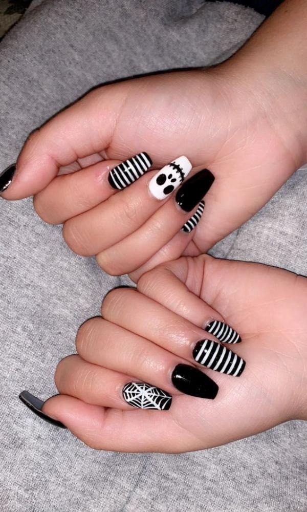 23 Most Beautiful Halloween Acrylic Nails