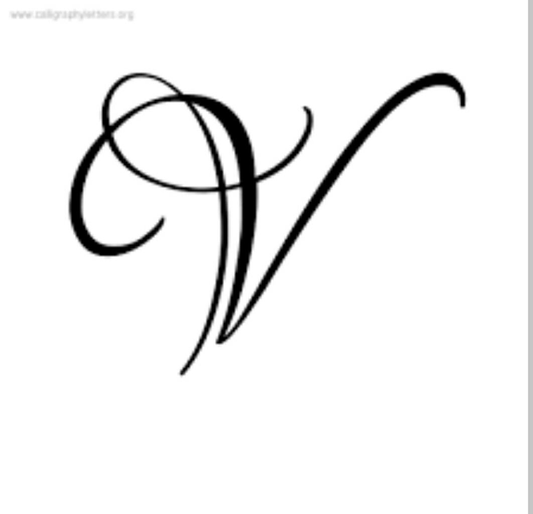 V Letter With Images Fancy Letters Lettering Styles Tattoo