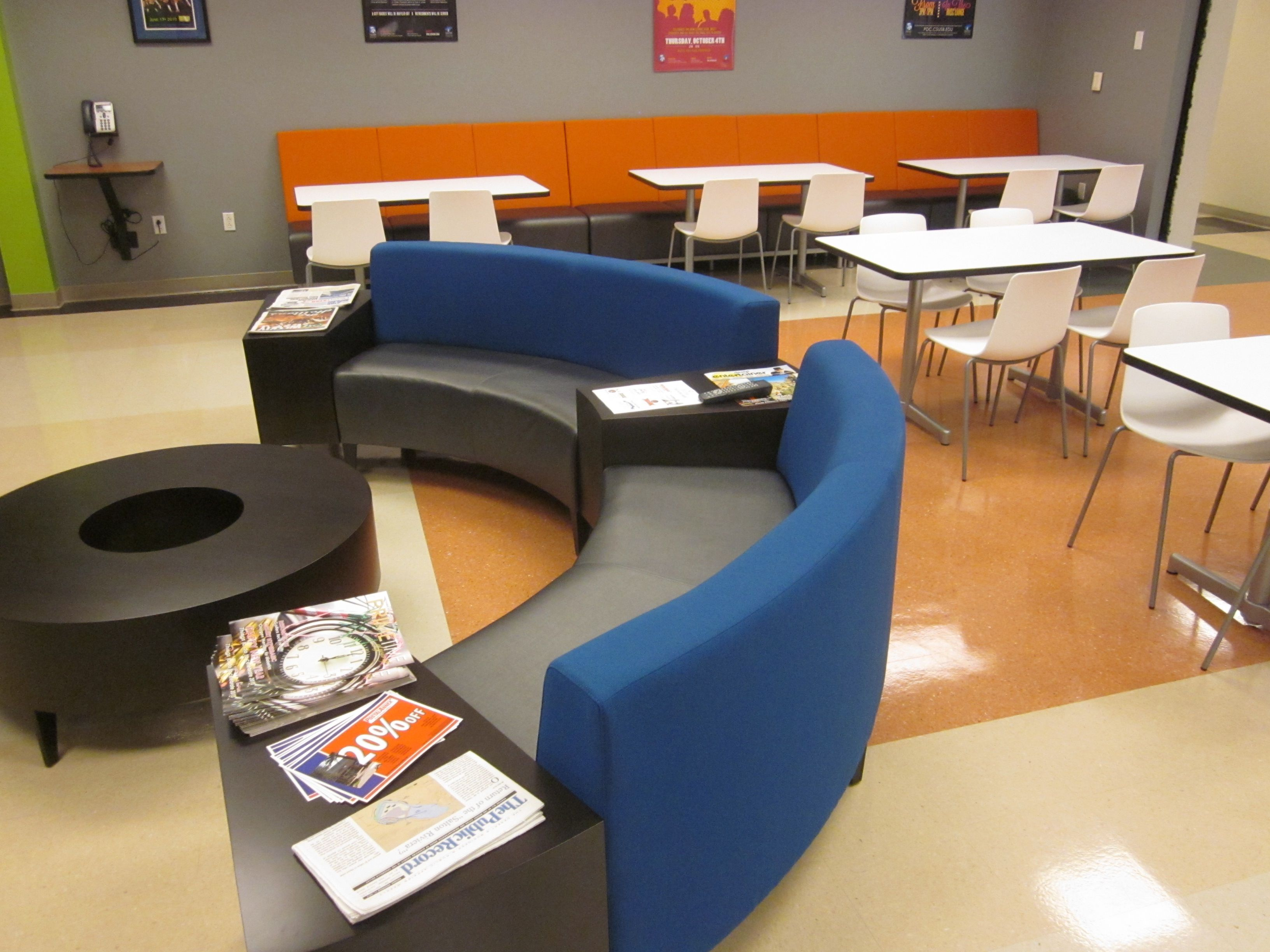 Coalesse Circa Seating and Tables create a fortable lounge