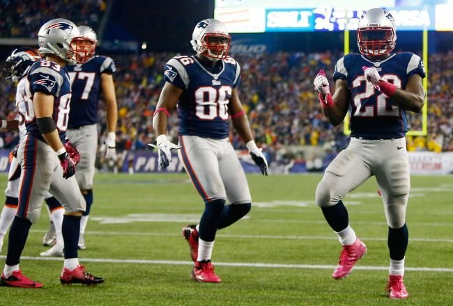 In a matchup of two of the game's marquee quarterbacks, the New England Patriots' ground attack proved to be the difference-maker.    Second-year running back Stevan Ridley rushed for a career-high 151 yards and one touchdown, helping New England beat the Denver Broncos, 31-21, at Gillette Stadium.