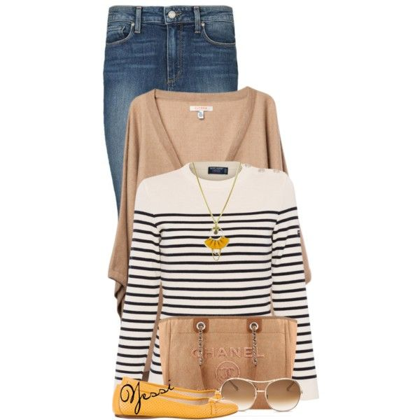 ~ 💕 Stripped Top 💕 ~ by pretty-fashion-designs on Polyvore featuring polyvore, fashion, style, Saint James, Paige Denim, Prada, Atelier Maï Martin, Chloé, Chanel and clothing