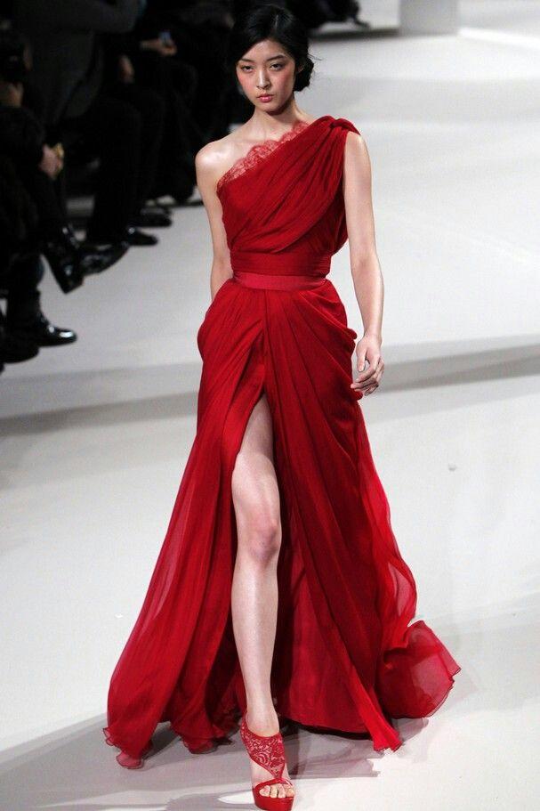 Vestidos rojos alta costura