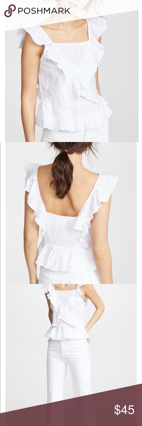 b2f1b3eb907bae Moon River cross ruffle blouse Purchased via Shopbop. I needed up buying a  medium,