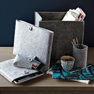 Felt Desk Accessories Would Cozy Up An Office Space, I Think... Now