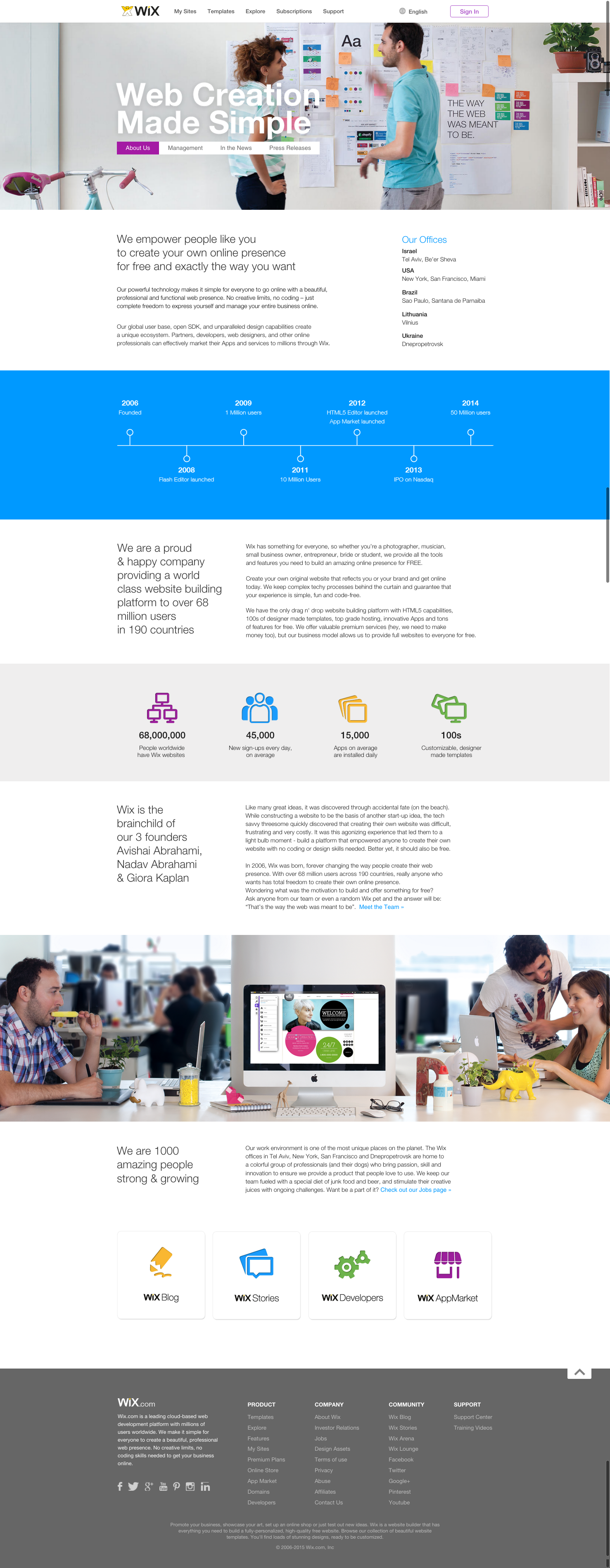 Wix about us page design 2015 about us webpage design pinterest wix about us page design 2015 pronofoot35fo Images