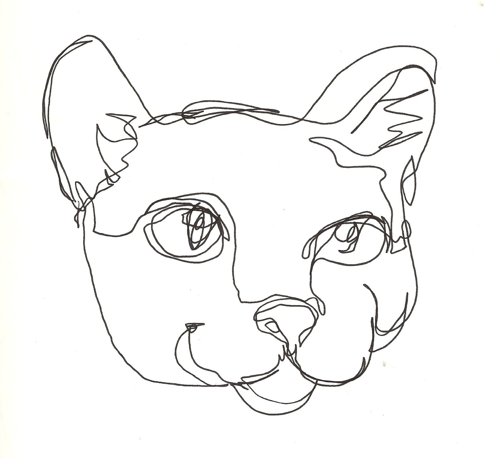 It's just a graphic of Effortless Line Drawing Saut De Chat