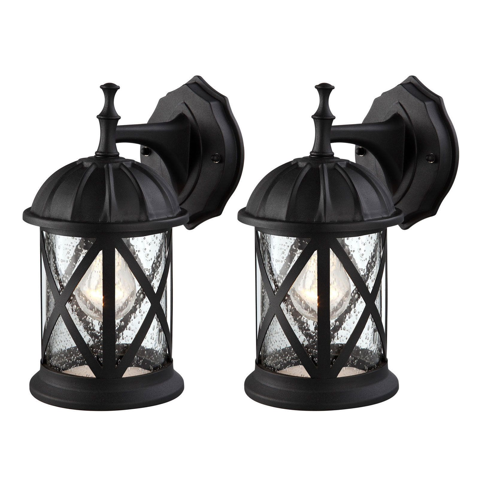 Outdoor Wall And Porch Lights 94939: Outdoor Exterior Wall Lantern Light  Fixture Sconce Twin Pack