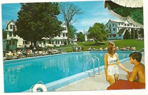 Delmar Hotel Loch Scheldrake Ny Summer Resort 1982 Vintage Postcard Catskill Resort Hotels Of