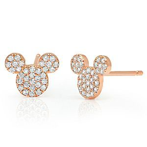 c32390877 Mickey Mouse Icon Stud Earrings by CRISLU - Rose Gold | Disney Store These  stunning Mickey Mouse Icon Stud Earrings by CRISLU feature Mickey's head  with ...
