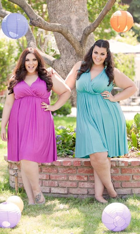 Modern goddess meets Disco Queen in this plus size Halston-style dress! Draped, surplice front with an elastic waist.