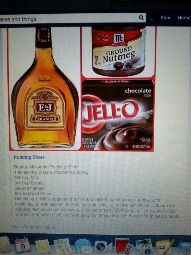 Brandy Alexander Pudding Shots Food Pudding Shots Drinks