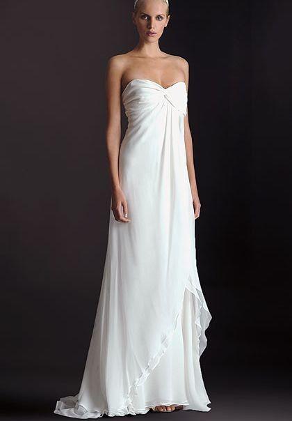 Simple Strapless Wedding Dress - Ocodea.com