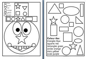 Free Printable Worksheets for Early Years/KS1 2D shape. Includes ...