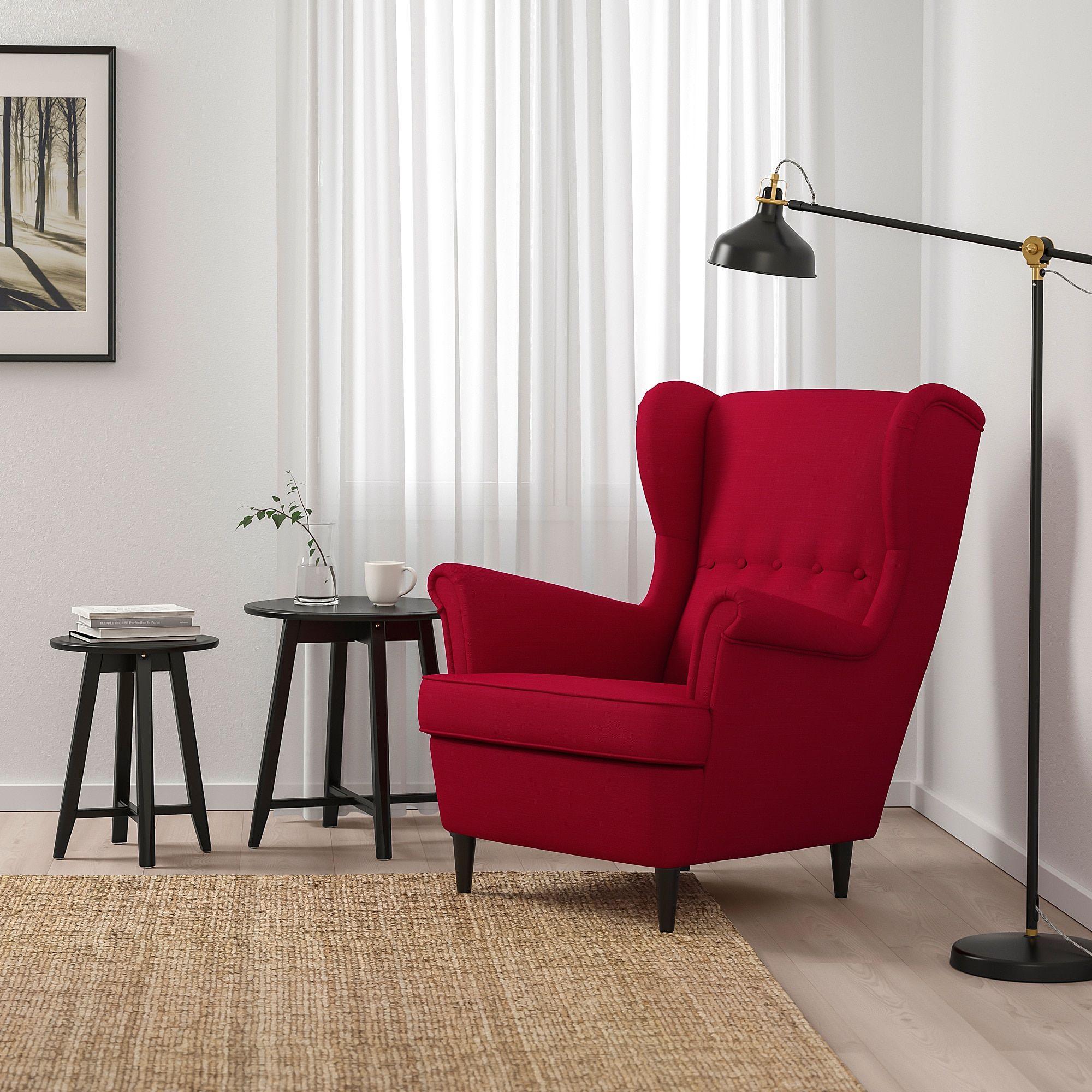 Fauteuil Ikea Strandmon Nordvalla Rouge.Ikea Strandmon Arm Chair Nordvalla Red Ekkor 2019