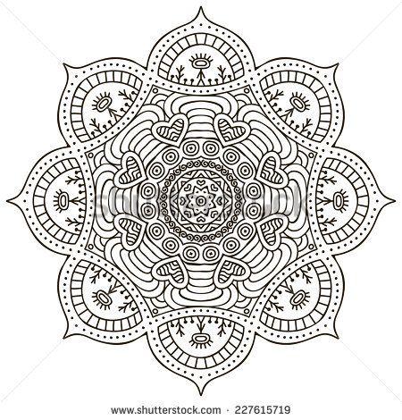 Mandala. Round Ornament Pattern. Vintage decorative elements. Hand ...