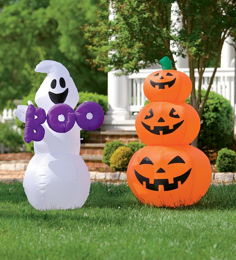 pumpkin or ghost weather resistant halloween inflatable - Blow Up Halloween Decorations