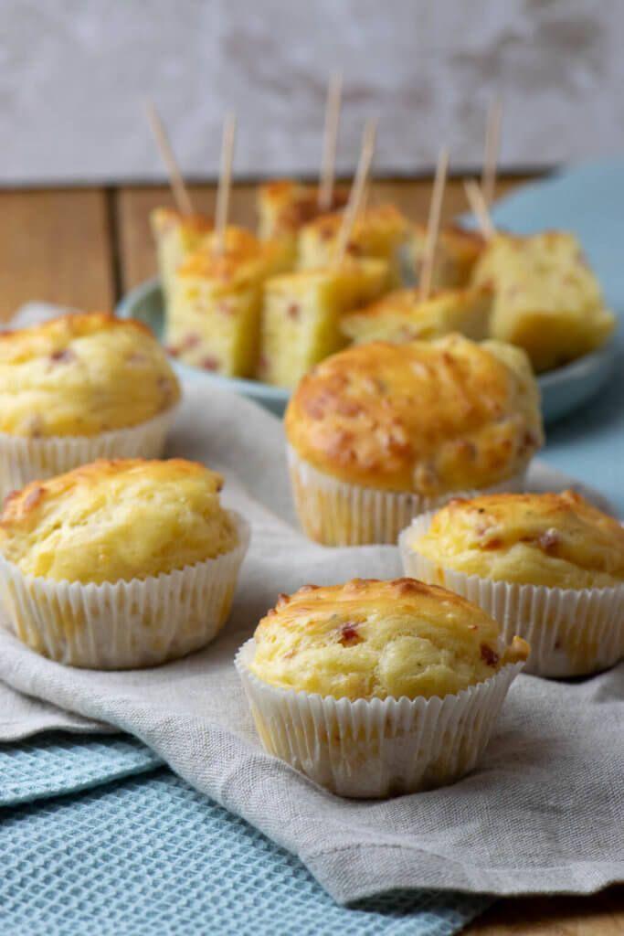 Alle lieben diese Käse Schinken Muffins #melonrecipes
