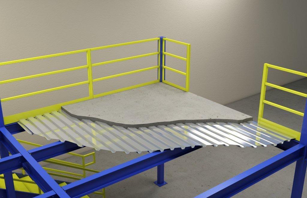 Exceptional Corrugated Decking 3 Corrugated Metal Decking Concrete Floor Deck Flooring Concrete Floors Concrete Floors Diy