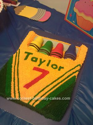 Homemade Crayon Box Birthday Cake I Made This Giant For My