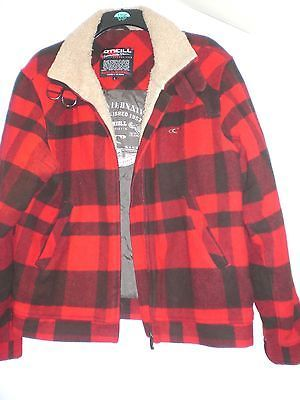 O Neill Men S Check Lumberjack Style Winter Jacket Coat Size L Mega Surf