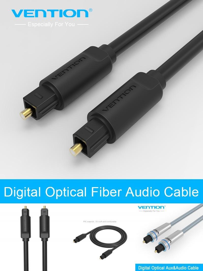 Visit to Buy] vention 3 FT 1.5m Toslink Digital Cable Optical Fiber ...