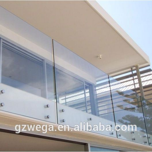 Source Balcony Frameless Glass Balustrade with Aluminium Channel on m.alibaba.co…