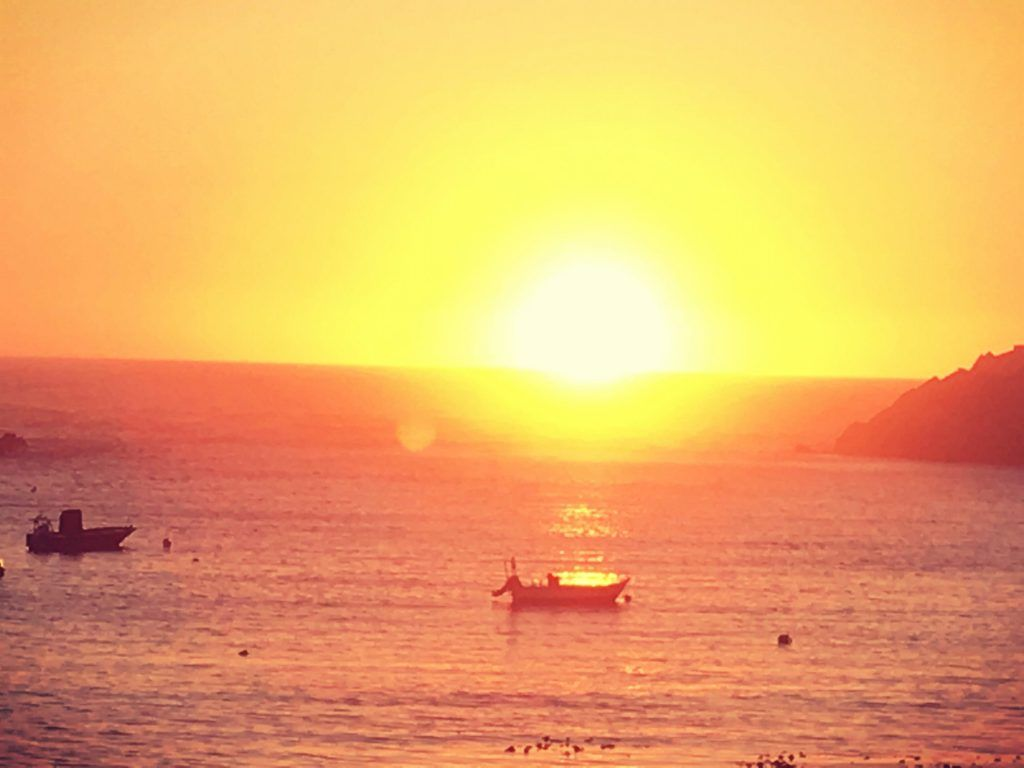 Sonnenuntergang in A Guarda, Spanien