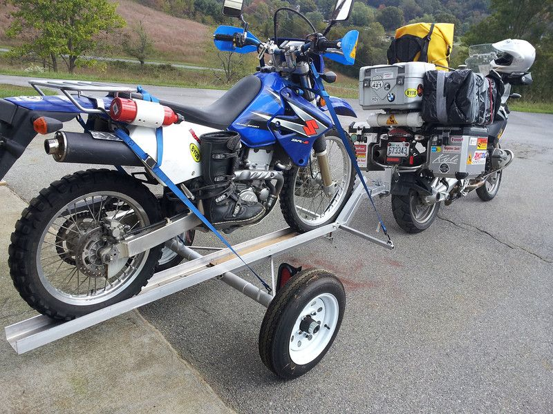 Towing A Second Bike Motorcycle Trailer Pull Behind Motorcycle Trailer Motorcycle Towing