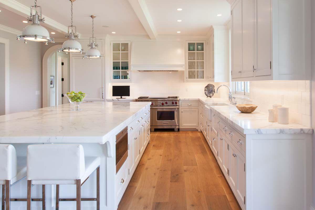 Family Retreat White Modern Kitchen Wood Floor Kitchen Kitchen Design