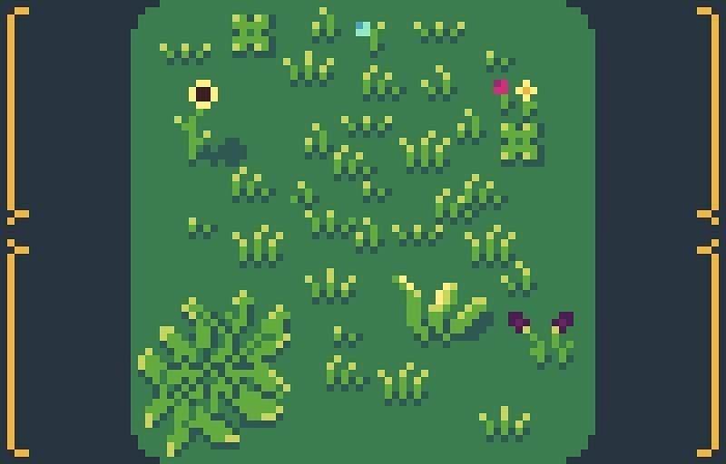 Grass Pixel Art