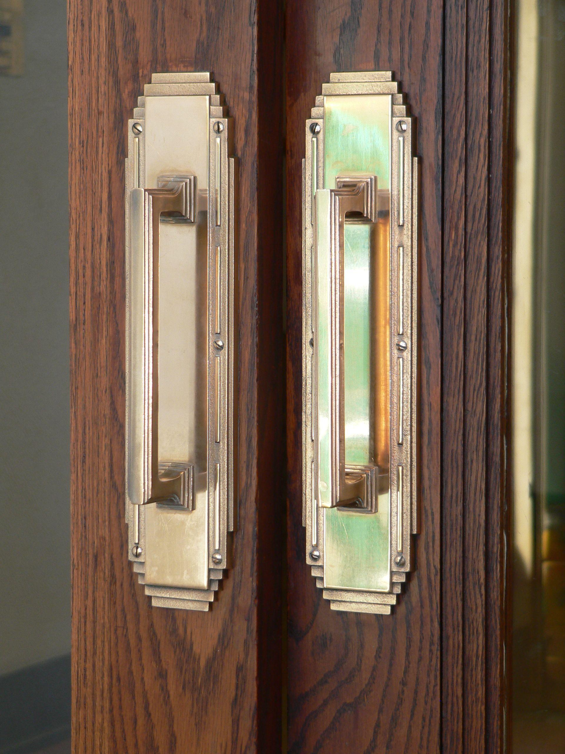 Art Deco Door Hardware Description Holdrege Nebraska City Office Handles Jpg