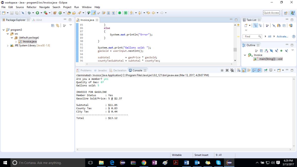 Program 3 Solution Logicprohub Programming Tutorial Prompts Tax Rate