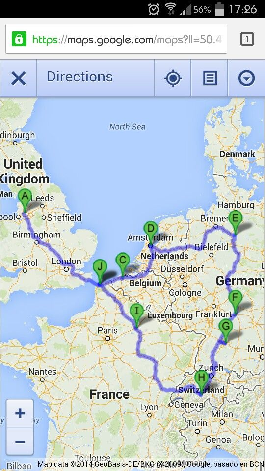 road trip route uk bruges netherlands germany switzerland france and