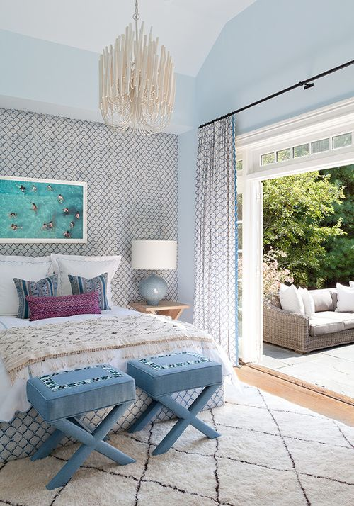 outstanding beautiful blue bedroom interior design   pretty example of blue in bedroom - pantone color serenity ...