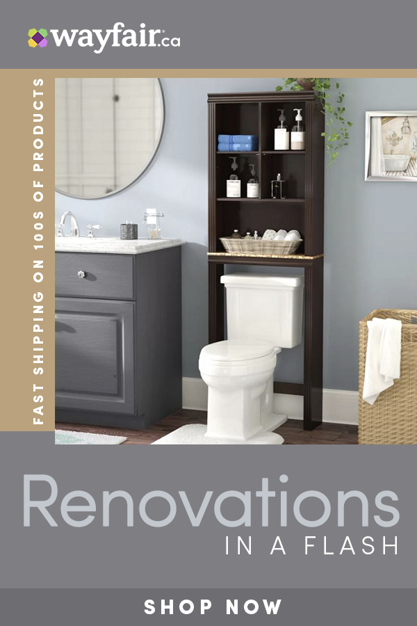 Renovate Your Bathroom With Wayfair Ca Sign Up For 10 Off Your First Order And Up To 70 Bathroom Storage Shelves Bathroom Design Small Rustic Bathroom Decor