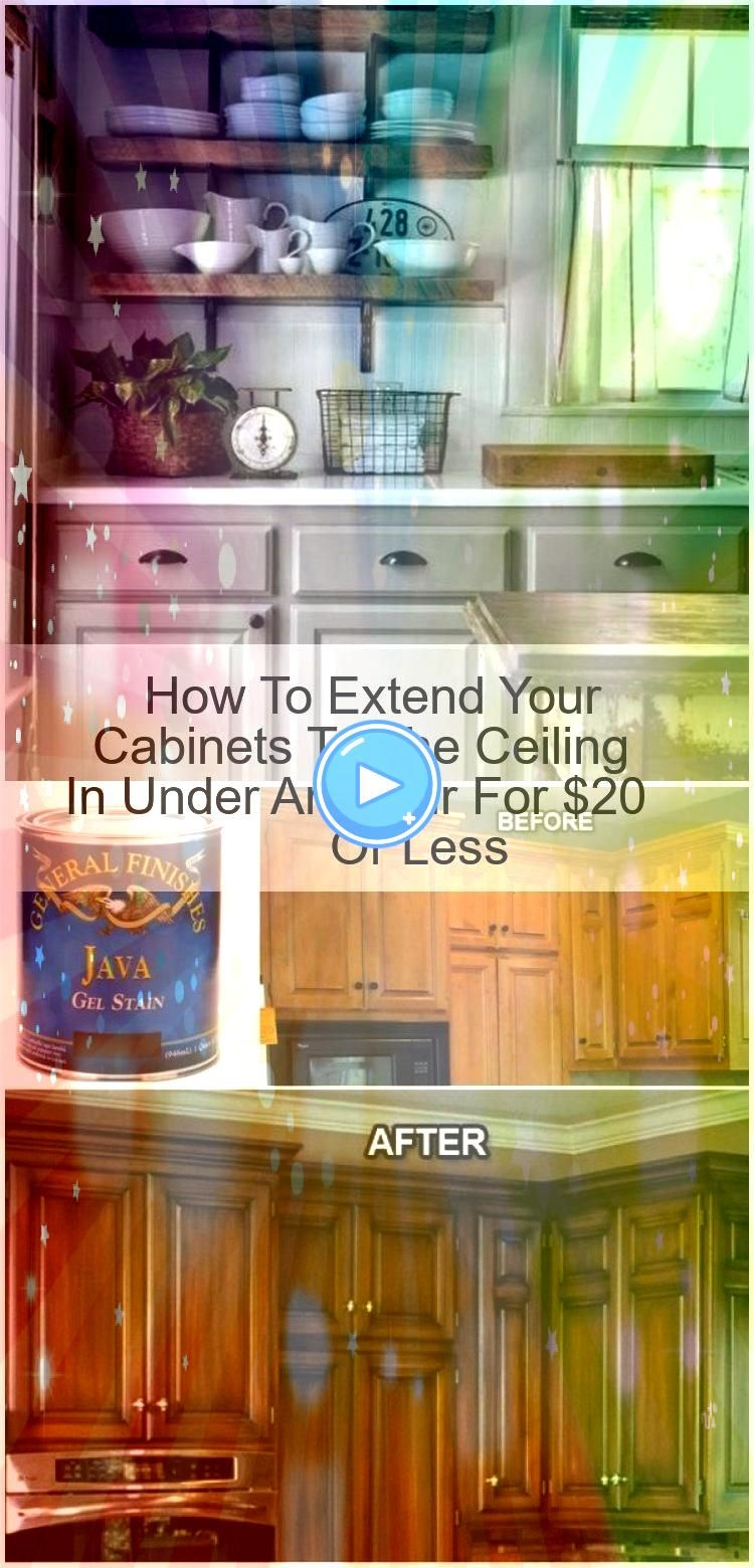 To Extend Your Cabinets To The Ceiling In Under An Hour For 20 Or Less How To Extend Your Cabinets To The Ceiling In Under An Hour For 20 Or Less How To Extend Your Cabin...