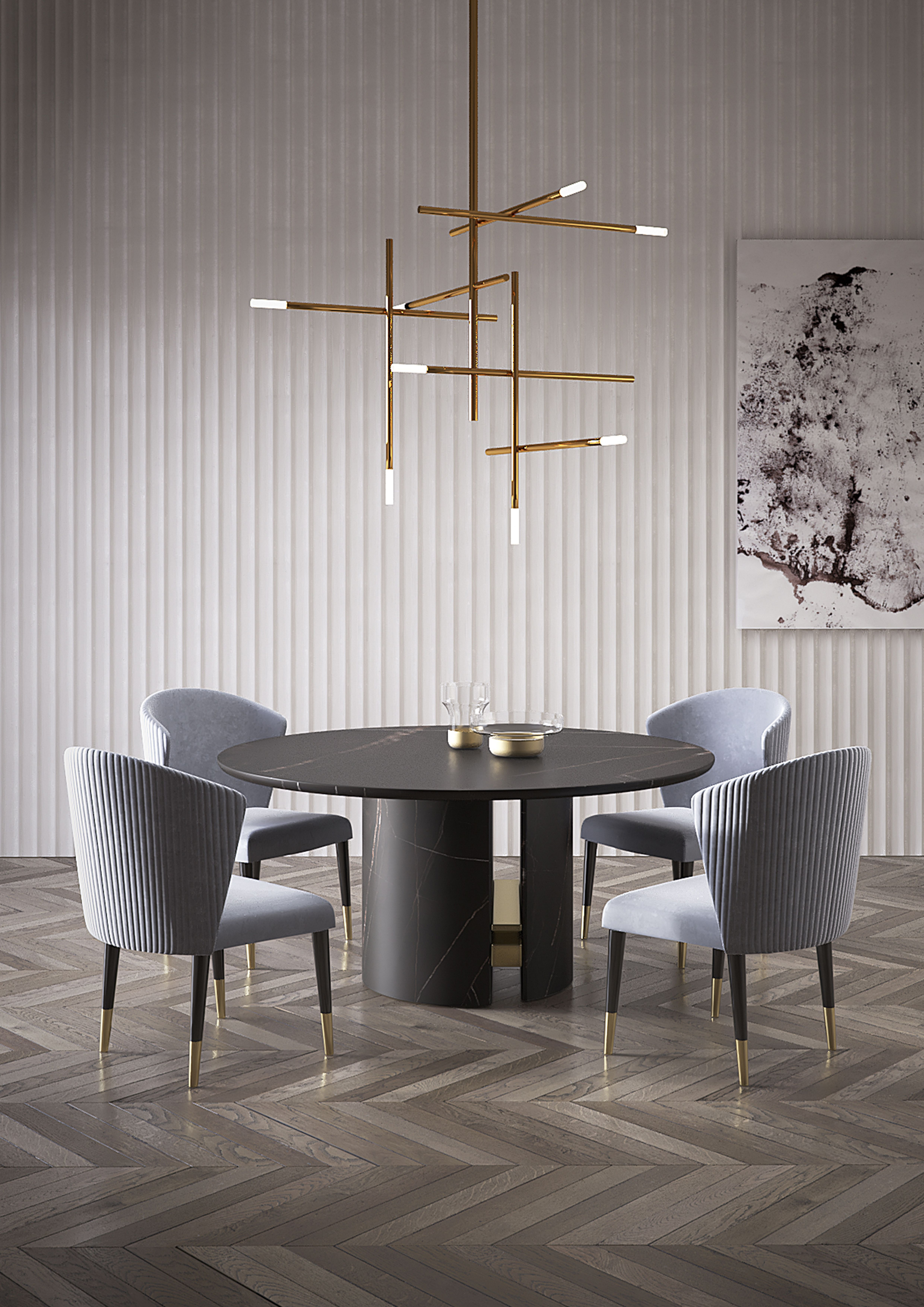 Round Dining Table Ercole By Capital Collection Design Boattomartinostudio Luxury Dining Room Dining Room Design Modern Dining Room